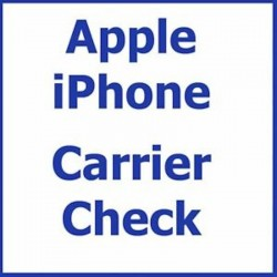 Check Carriere Opérator iPhone simlock