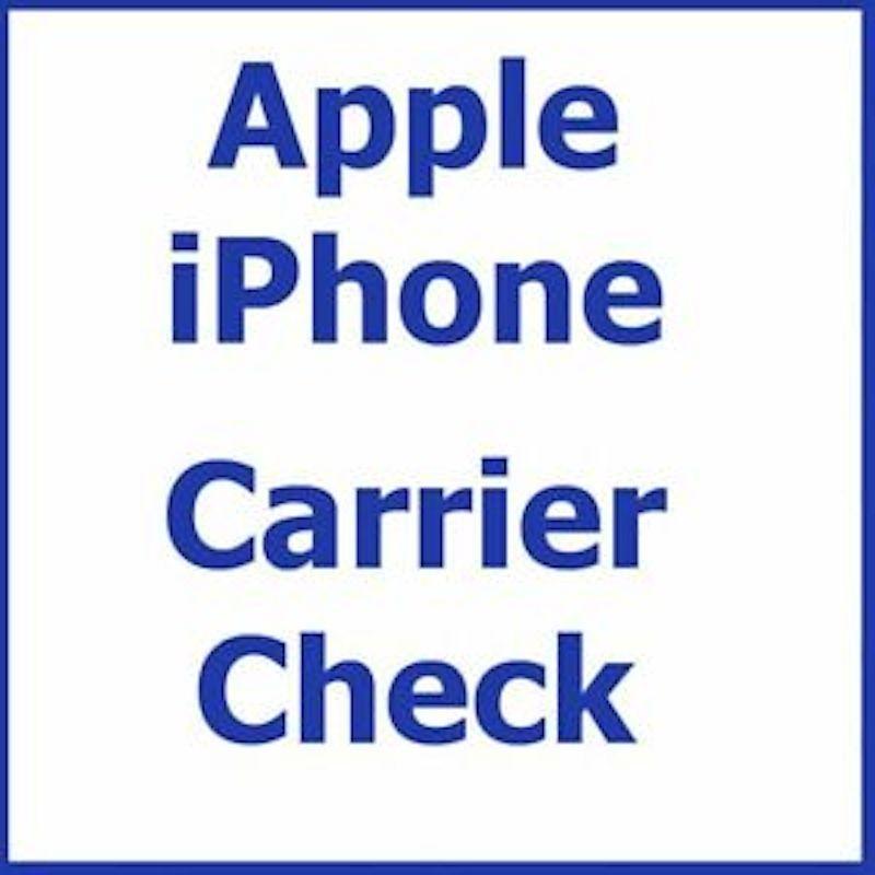 Check Carriere Opérator iPhone simlock